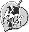 A picture of a horse, cow, cat, and dog